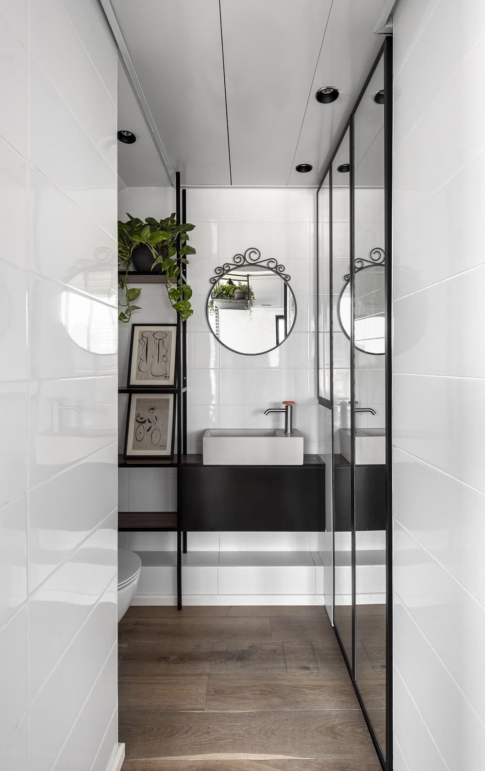 חדר הרחצה | תכנון ועיצוב: ניצן הורוביץ, צילום: עודד סמדר