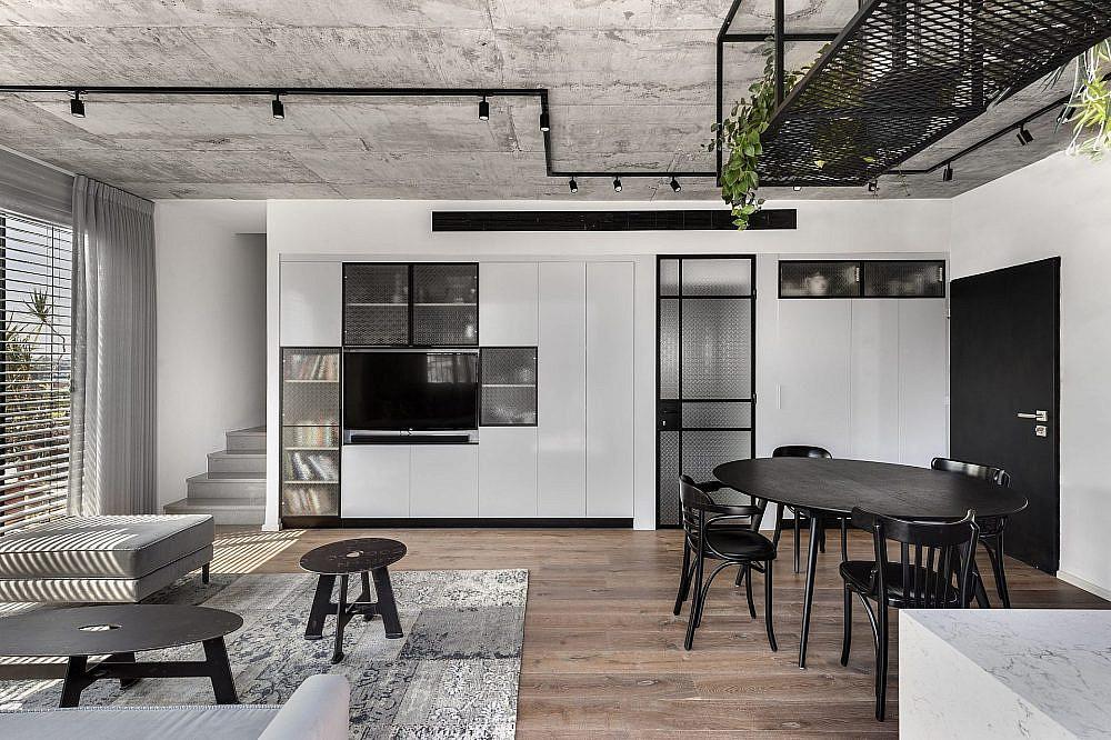 דירה בפלורנטין, בין רצפת העץ לתקרת הבטון | תכנון ועיצוב: ניצן הורוביץ, צילום: עודד סמדר