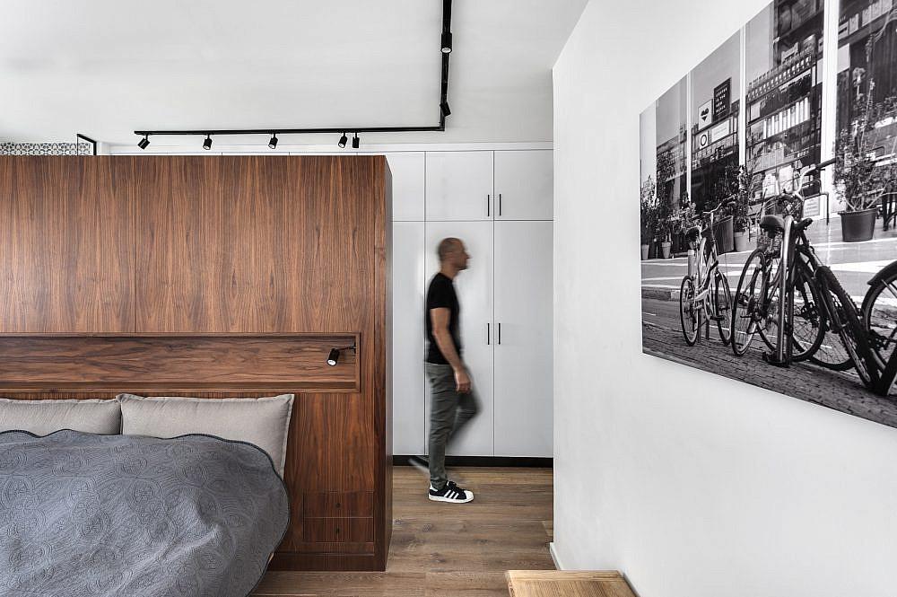 חדר השינה | תכנון ועיצוב: ניצן הורוביץ, צילום: עודד סמדר