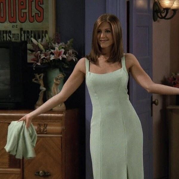 השמלה האייקונית של רייצ'ל. ג'ניפר אניסטון | צילום מסך מהסדרה