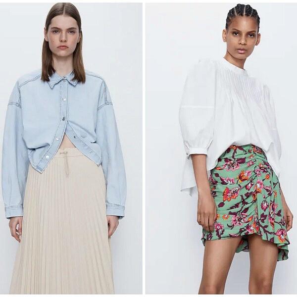 חצאיות קיציות של זארה | צילום מסך מהאתר