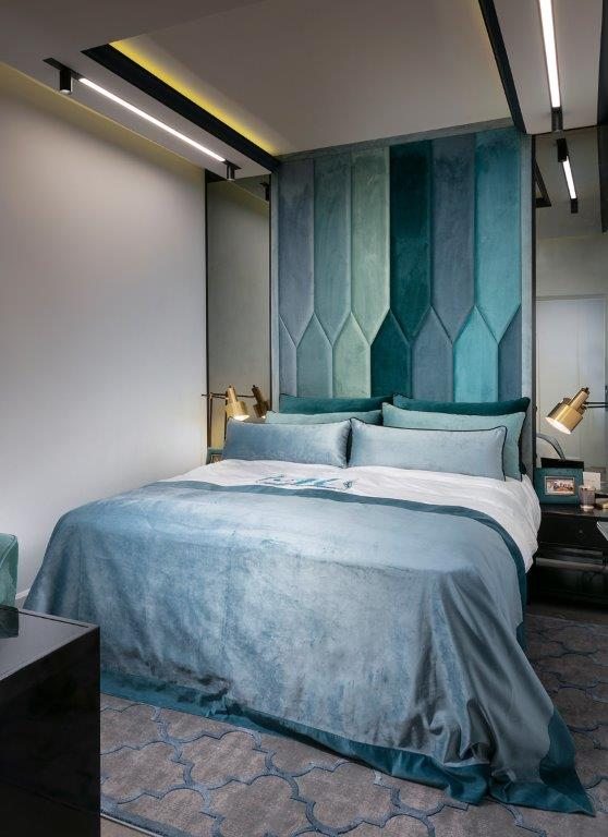 """דירת נופש בת""""א, חדר השינה   עיצוב: אריאלה עזריה ברקוביץ', צילום: אלעד גונן"""