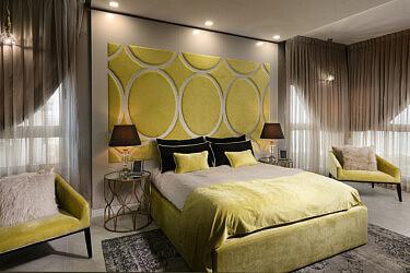 חדר שינה בעיצוב אריאלה עזריה ברקוביץ | צילום: אלעד גונן