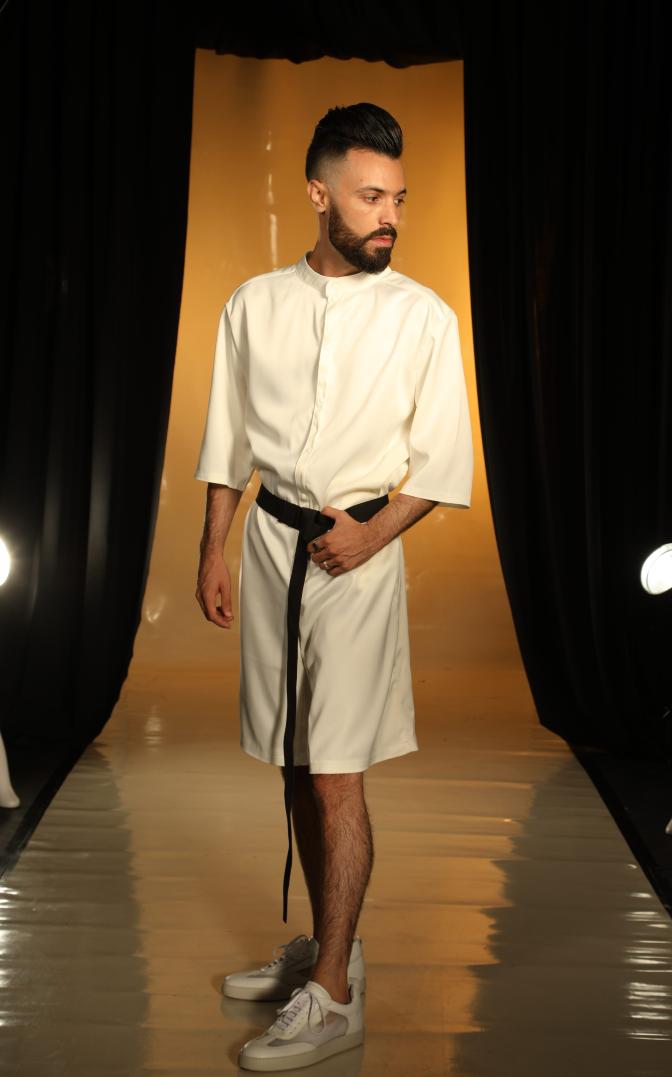 ג'ורדי לובש ג׳ניפר קים, ביום האופנה הישראלית | צילום: מור צידון