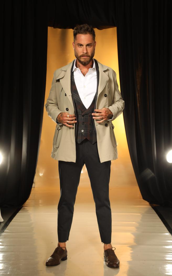 טום אביב לובשת דוד ששון, ביום האופנה הישראלית | צילום: מור צידון
