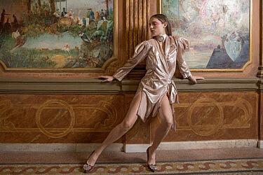 שמלה בעיצוב רחלי זילברשטיין | צילום: Levan Leko Tchkonia
