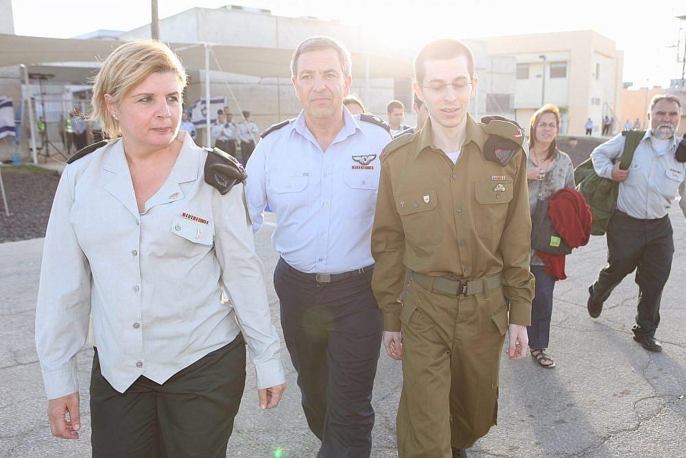 """אורנה ברביבאי ביום חזרתו של גלעד שליט   צילום: דובר צה""""ל"""
