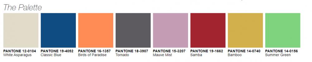 """פלטת הצבעים של פנטון   צילום: יח""""צ"""