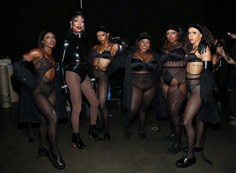 הדוגמניות בתצוגה של סוואג'Xפנטי של ריהאנה   צילום: Jerritt Clark/Getty Images