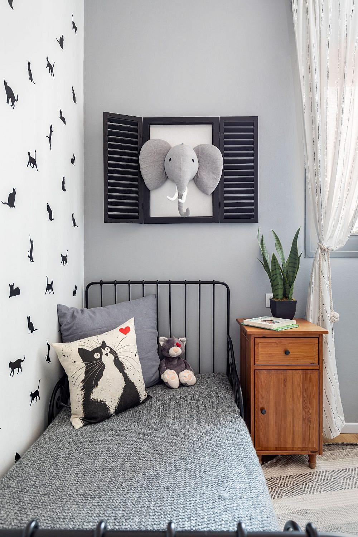 דירה בקריית אונו, חדרו של הבן | עיצוב פנים: נטלי אלל, צילום: אורית ארנון