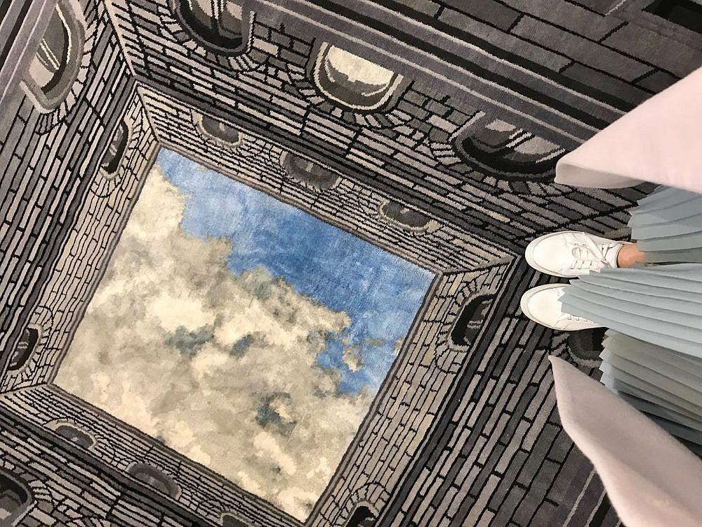 """שטיח במראה תלת מימד בעיצוב RENBY   צילום: יח""""צ"""