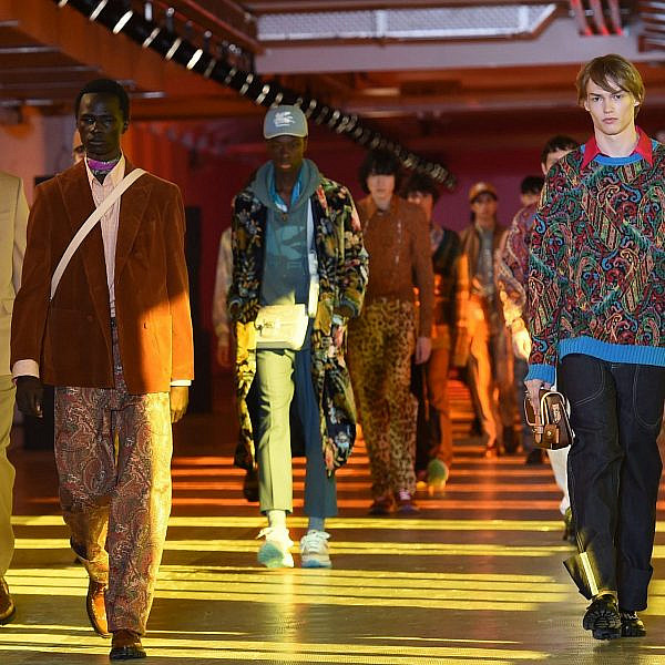 קולקציית גברים לחורף 2021 של בית האופנה אטרו | צילום: Vittorio Zunino Celotto/Getty Images