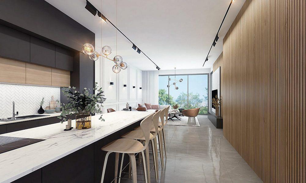 חלונות גדולים בגודל קיר המכניסים את החוץ פנימה, אל תוך בית | תכנון ועיצוב: שחר הכט, צילום: ליאור טייטלר