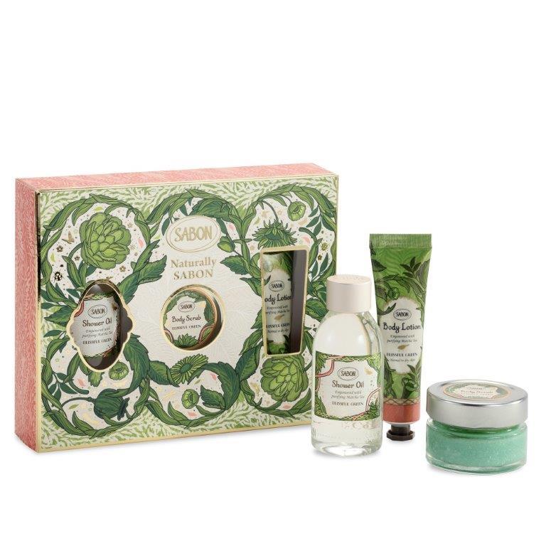 מארז מתנה מעוצב בניחוח Blissful Green. מחיר: 69 ש״ח במקום 90 ש״ח. צילום: רונן מנגן