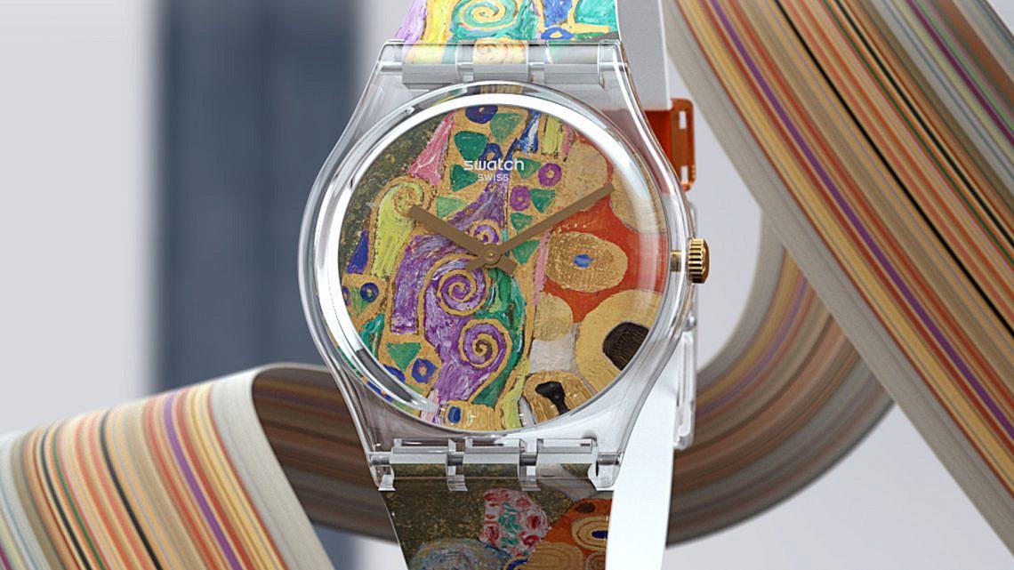 Hope II של גוסטב קלימט. מתוך סדרת השעונים של סווטש בשיתוף MoMA