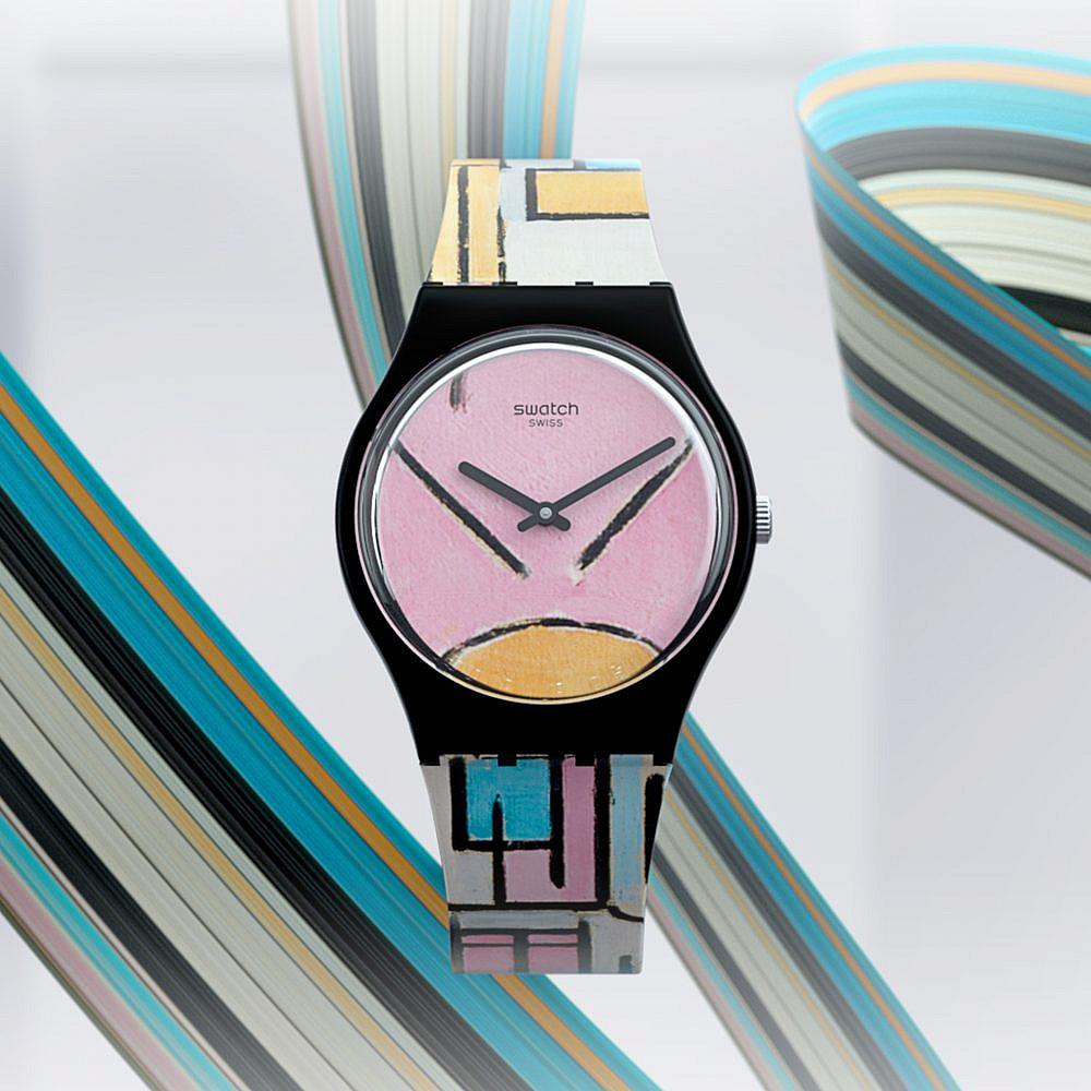 מתוך סדרת השעונים של סווטש, המעוצבים בהשראת שש יצירות אמנות אייקוניות המוצגות ב-MoMA