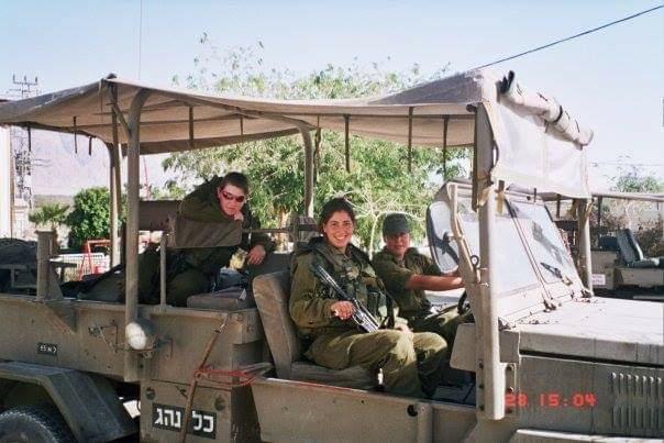 לורן דגן־עמוס בשירותה הצבאי | צילום באדיבות המצולמת
