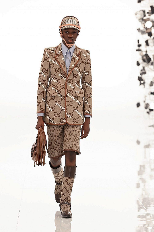 תצוגת אופנה גוצ'י ובלאנסיאגה   צילום: Daniele Venturelli/Getty Images for Gucci