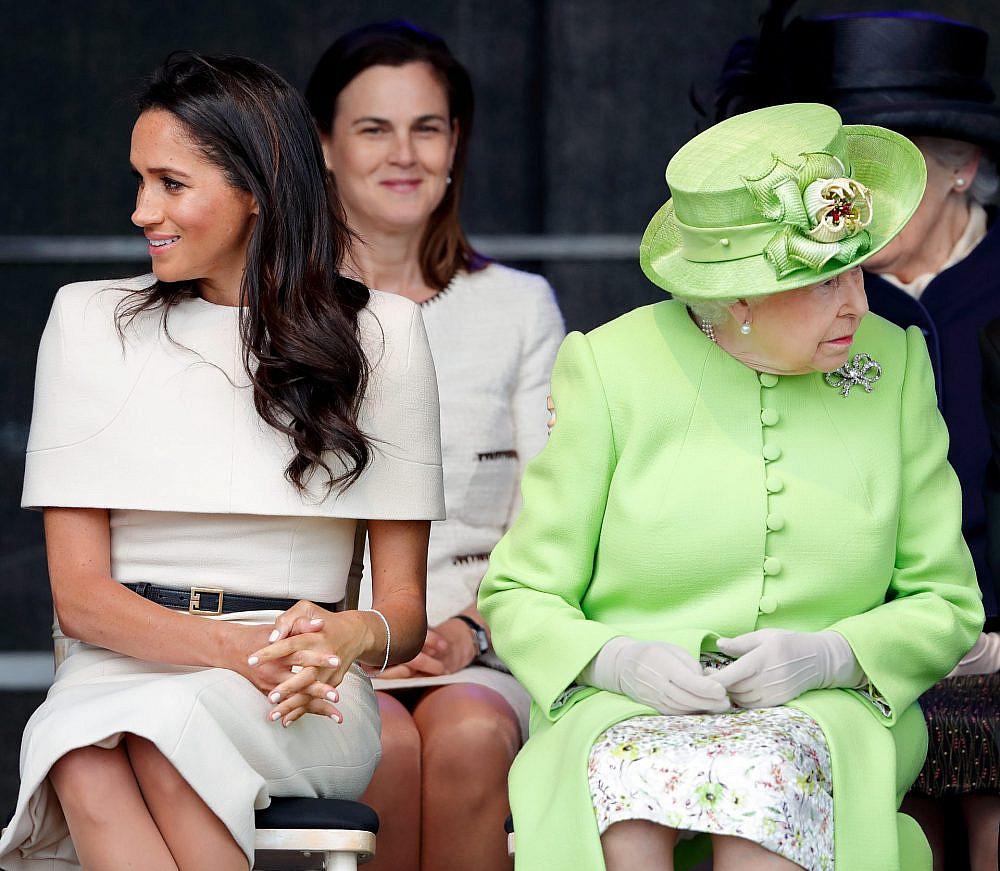 מייגן מרקל והמלכה אליזבת' | צילום: Max Mumby/Indigo/Getty Images