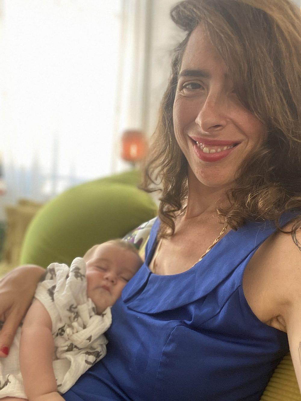מירב בלומנפלד ובתה תמרה | צילום: פרטי