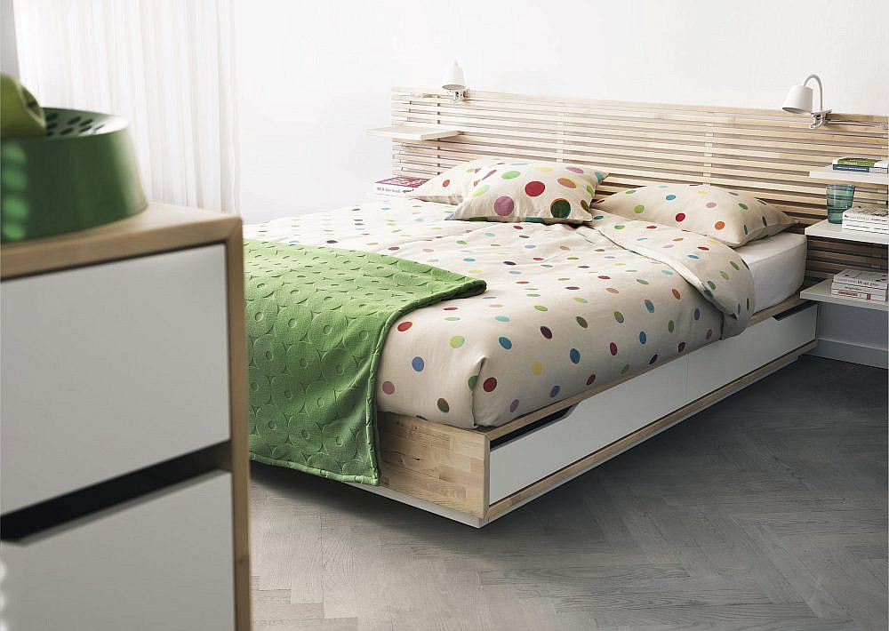 "מיטה MANDAL, מחיר 2,140 ש""ח   צילום: Inter ikea systems"