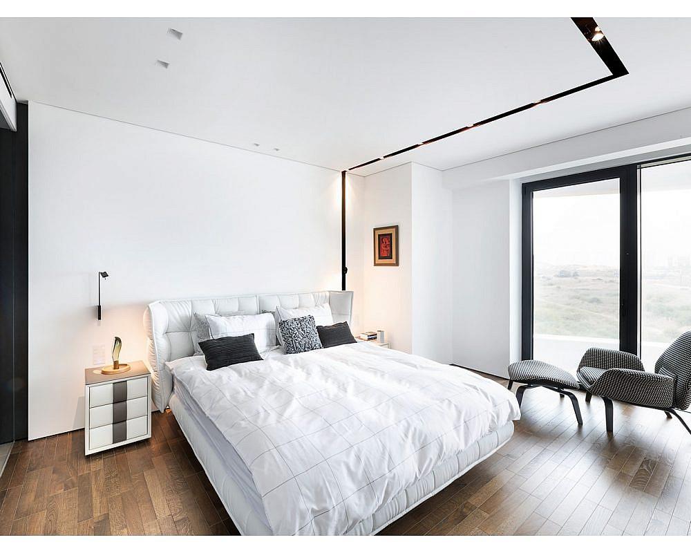 עיצוב חדר שינה ניטרלי ולא טרנדי. עיצוב פנים: מיכל האן | צילום: עמית גושר