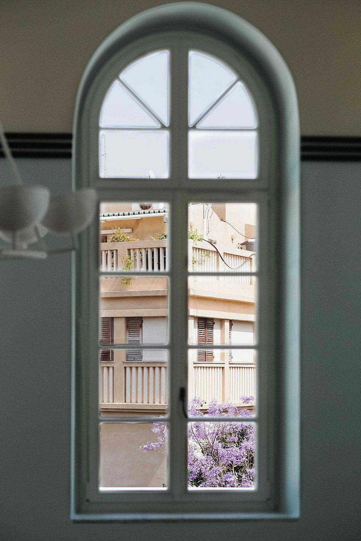 שימור האלמנטים האדריכליים. החלונות הותקנו מחדש | צילום: דור שרון