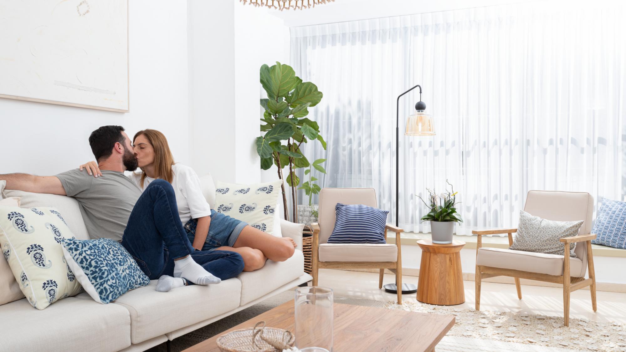 הדירה של ניר והגר בצפון הישן תל אביב   עיצוב פנים: נועה גבע, צילום: עומר שורר
