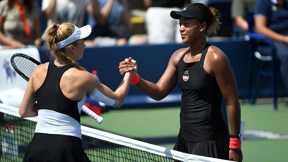 גלושקו ואוסקה | צילום מתוך US OPEN 2018, האתר הרשמי של אליפות הטניס