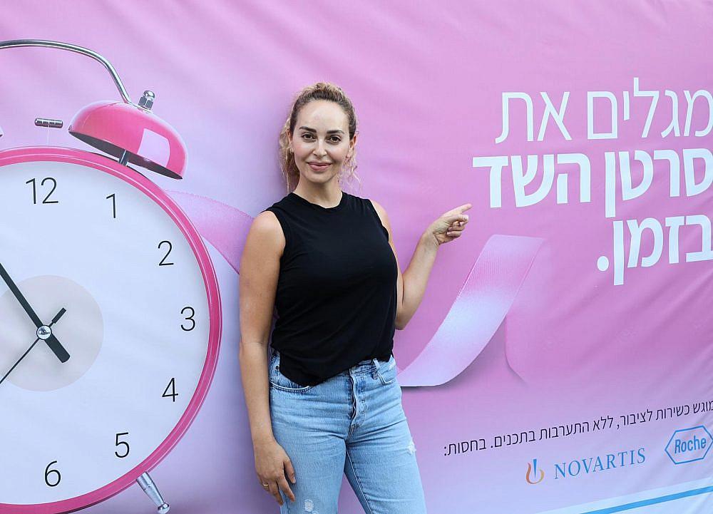 מירי בוהדנה בתצוגת אופנה של דרור קונטנטו באיכילוב. חודש המודעות לסרטן השד   צילום: מירי גטניו וג'ני ירושלמי, איכילוב