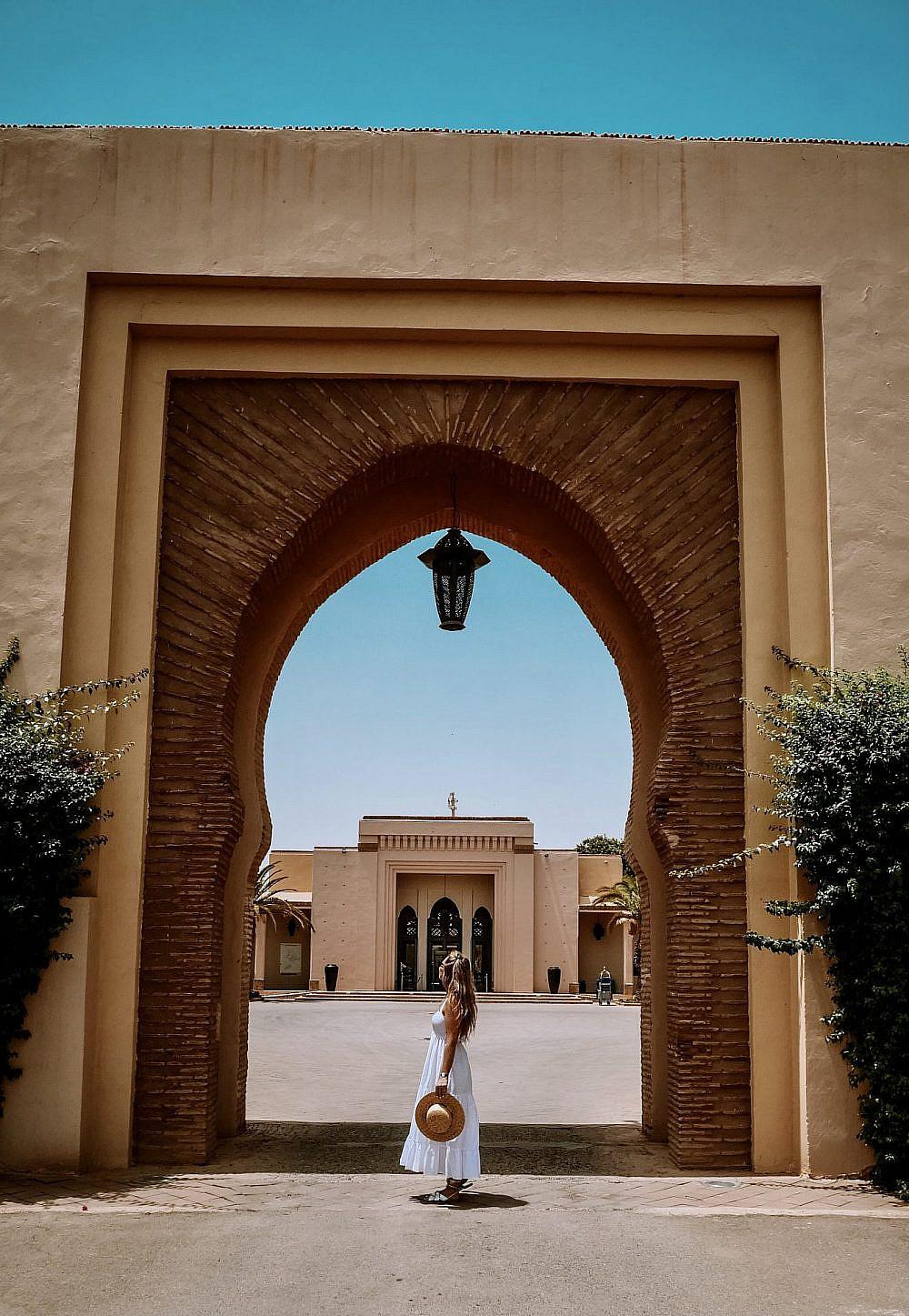 שער הכניסה לקלאב   צילום באדיבות Club Med Marrakech la Palmeraie