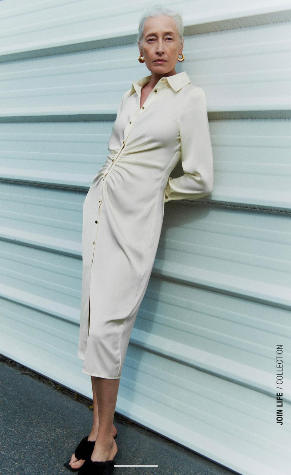 """זארה, שמלת סאטן 199 ש""""ח   צילום מסך מאתר זארה"""